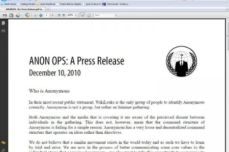 Anonymous Releases Very Unanonymous Press Release